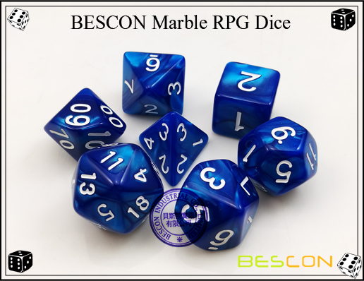 BESCON Marble RPG Dice Set-3