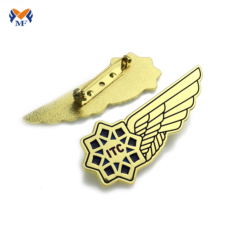 metal wing badge