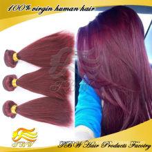 Großhandelsverfassungs-brasilianische gerade Menschenhaar-Verlängerungs-Haar-Webart der Farbe-99j