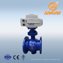 in stock guarantee 8 years quality Eccentric hemispherical valve weld flange semi ball WCB ball valve with electric actuator