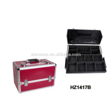 high quality&professional aluminum cosmetic case with trays inside from China manufacturer