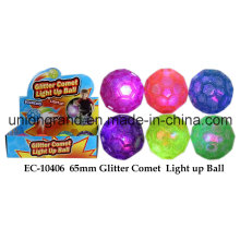 65mm Glitter Comet Light up Ball
