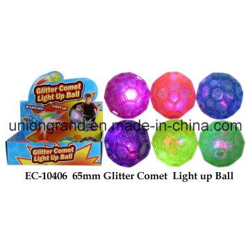 65mm Glitter Comet Light up Ball
