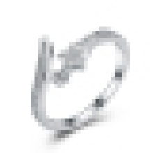 Mulheres 925 prata esterlina embutidos cz little star anel de abertura