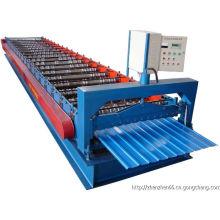 Machine de formage de rouleaux de panneaux de toit en tuiles d'acier de couleur
