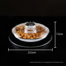 Tapa de plástico con interruptor giratorio para almacenar alimentos