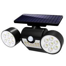 Luz de parede de segurança solar inundada cabeça holofotes segurança