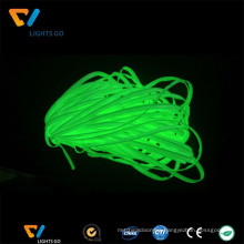 Wholesale glow in the dark photoluminescent green fabric piping ribbon for heating on garment