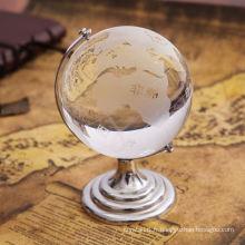 Décoration moderne de bureau en cristal de conception avec le globe en cristal (KS1201067)