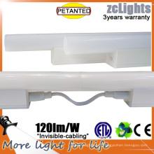 Luz de prateleira de cablagem invisível LED linear T5