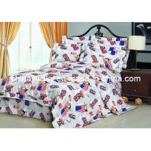 100% polyester imprimé tissu pour drap de lit