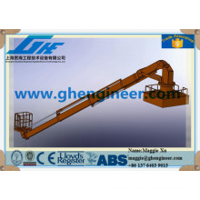 cradle diving support hydraulic ship deck crane