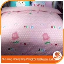 China high quality 100%polyester printed fabric for bedsheets