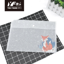 Animal style PP snap button file holder