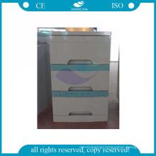 AG-BC001 CE ISO mobile hospital plastic medical bedside locker cabinet
