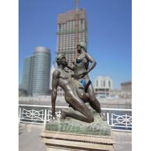 home decration metal nude man and woman custom bronze erotic sculpture