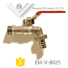 EM-V-B025 Red Guten-top superior male thread brass forged washer tap bibcock
