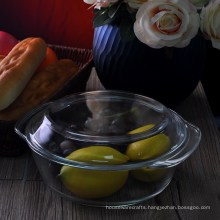 Large High Borosilicate Glass Oven Bowl with Cover