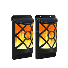 Decorative Solar Wall Lamp 66LED Flicking Flames Light For Home Wall Yard Lighting