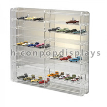 Merchandising Counter Top Transparent Acrylic Toy Car Display Custom Drinky Farm Toy Display Case