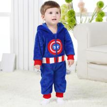 Baby Kleider, 100% Polyester Fleece geformt Spielanzug / Captain America
