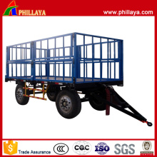 2 Axles Four Wheel Cotton Transport Agricultural Trailer