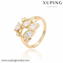 13450- Chine Wholesale bijoux de mode Or Femmes 18 K Gold Flower Ring