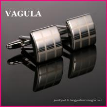 VAGULA haute qualité Laser argent manchette (HL10166)