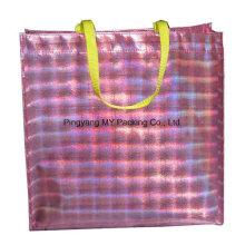 Sac à provisions promotionnel de sac de laser non-tissé stratifié par BOPP