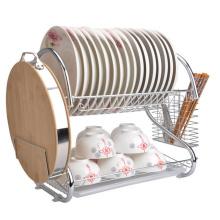 Rack de prato de arame de metal Rack de secagem de prato de metal