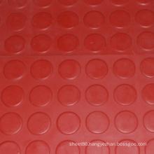 Red Anti-Slip Rubber Coin Mat