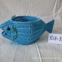 Plastic Rattan Fish Shape Pot