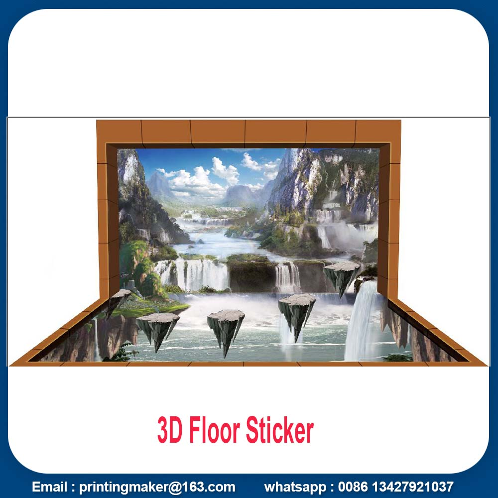 3 D floor stickers