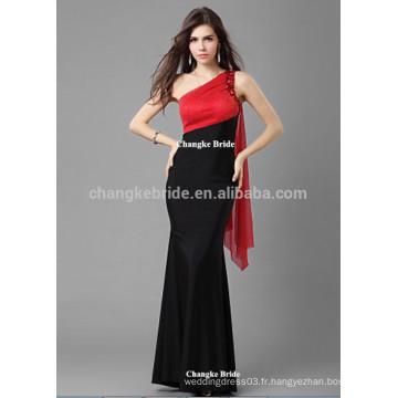 2016 élégante une épaule longues robes de soirée pour femmes été