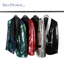 Adult Shawl Collar Reversible Pailletten Jacke Herrenmäntel