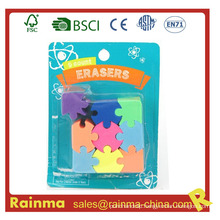 High Quality Fancy Color Puzzle Rubber Eraser