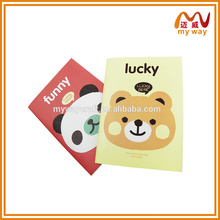 2016 A5 custom paper school notebook paper printing composition exercise notebook saddle stitch made in China