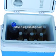 АК-24Л(109) постоянного тока 12В переменного тока 220В 60Вт холодную и горячую двойная польза дома и автомобиля двойного применения автомобильный холодильник(сертификат CE)
