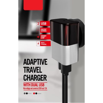 US-Stecker Fast Dual USB Travel Charger
