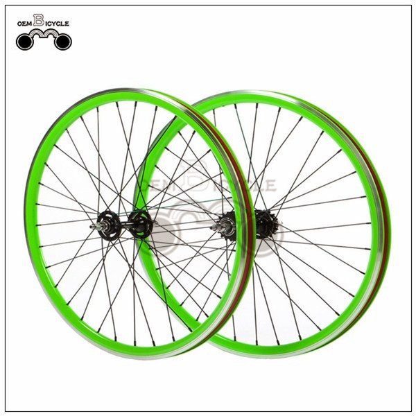 700C 40mm fix double-walled aluminum wheelset5