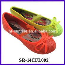 2014 nuevos zapatos de la muchacha nuevo diseño zapato de lujo de la muchacha de la manera