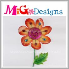 Presentes de Natal Metal Flower Wall Art com cristal