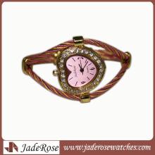 Hot Sale Fashion Diamond Dial Alloy Strap Waterproof Watch