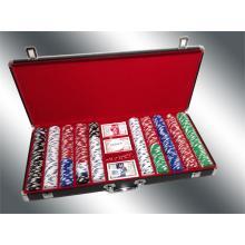 Deluxe Chip de póquer caso / negro grande