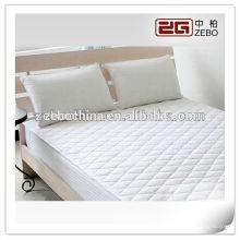 100% poliéster tecido quente vendendo cor branca impermeável colchão protetor