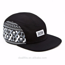 leather side customied logo with Skeleton skull cap