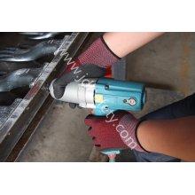 Gants de travail en Nylon 18g avec Latex Sandy noir revêtement (L3016)