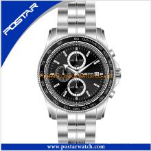 Reloj de cronógrafo de moda reloj de acero inoxidable para hombres