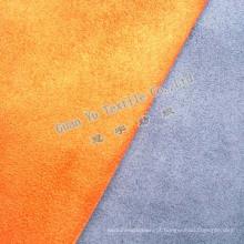 Gravado de poliéster tecido de sofá de camurça de microfibra