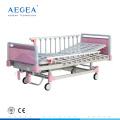 AG-CB012 Placas de cama de acero de 4 piezas Juego de cama de cuna con una manivela manual